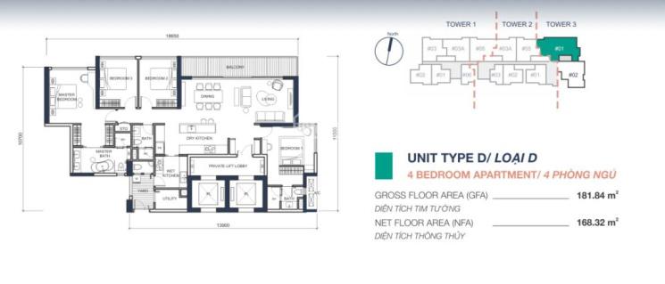Bán căn hộ 4PN + thang máy trong nhà - tòa Q2 Thảo Điền, 182m2 giá 22,5 tỷ. 0909928209 ảnh 0