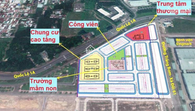 Đất ở thị trấn Trảng Bom, mặt tiền Quốc Lộ 1A và Đồi 61, cạnh KCN Bàu Xéo, Trảng Bom, Đồng Nai ảnh 0