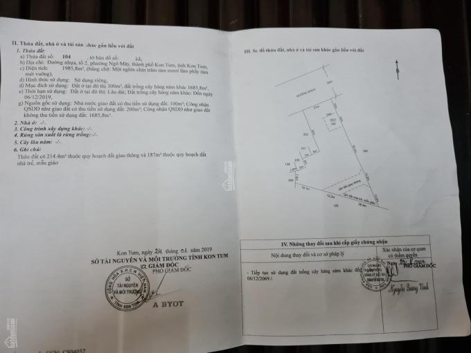 Chính chủ bán đất Lê Đức Thọ, P. Ngô May, TP. Kontum ảnh 0