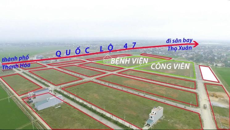Bán nhanh 2 lô mặt công viên, hướng Đông Nam, KĐT Sao Mai - Triệu Sơn - TH ảnh 0
