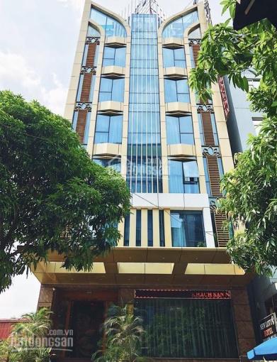 Bán tòa văn phòng phố Lạc Long Quân, DT 120m2 x 8 tầng + 1 hầm, MT 6m. Giá 27 tỷ - 0832.108.756 ảnh 0