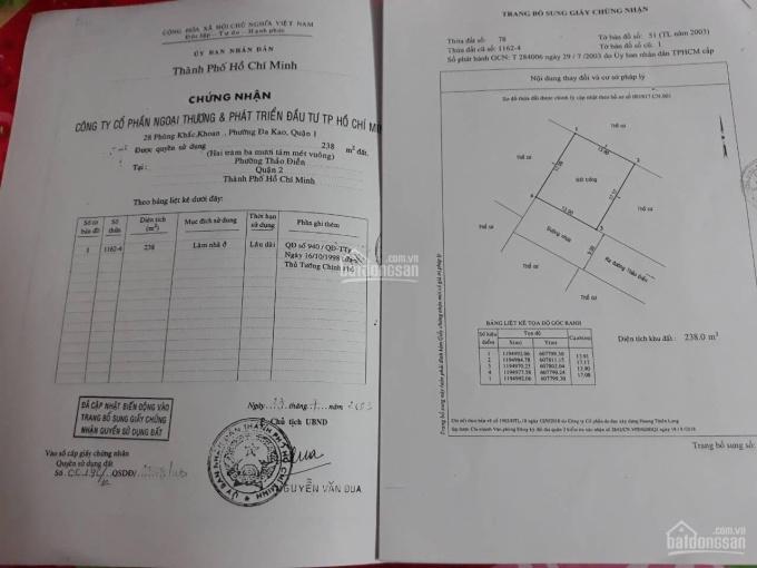 Bán khu Fideco đường Thảo Điền, P. Thảo Điền, Quận 2 (TP Thủ Đức): 14m x 17m. Tín 0983960579 ảnh 0