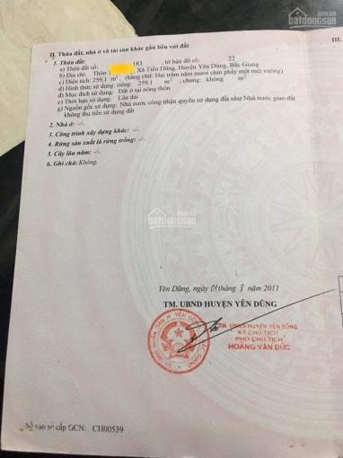 Chính chủ bán đất tặng nhà 2 tầng Xã Tiến Dũng Huyện Yên Dũng Bắc Giang ảnh 0