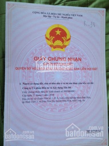Cần bán gấp lô đất 10x17.5m trong KDC Tân Đô, KĐT Hương Sen, sổ hồng riêng, gía 1tỷ9. Giá thật 100% ảnh 0