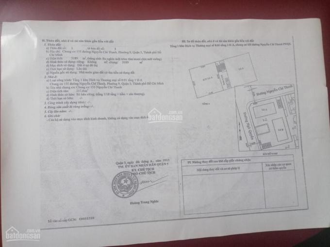Bán tầng trệt chung cư 155 Nguyễn Chí Thanh, Phường 9, Quận 5 ảnh 0