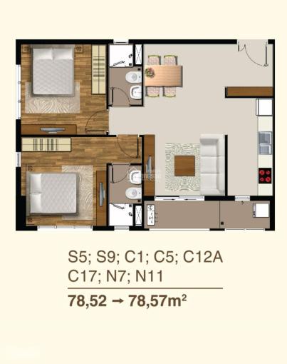 Chính chủ cho thuê căn hộ cao cấp 2PN 2WC ảnh 0
