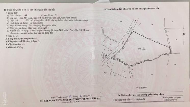 Chính chủ cần bán 2 lô đất ở Mỹ Hiệp, Xã Mỹ Sơn, huyện Ninh Sơn, tỉnh Ninh Thuận chỉ 900 triệu/ha ảnh 0