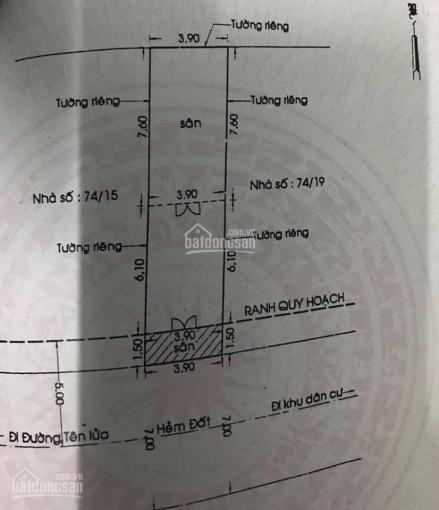 Nhà bán 1 xẹc Tên Lửa đường thông phường An Lạc A, quận Bình Tân, Khu dân cư hiện hữu ảnh 0