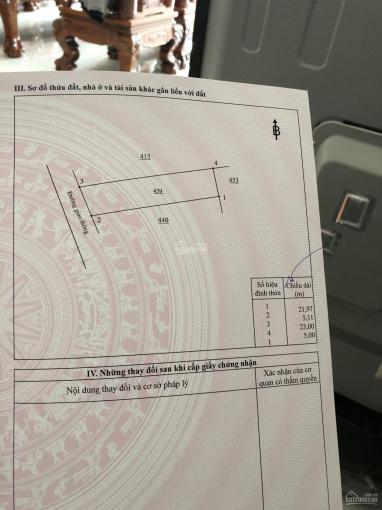 Chính chủ bán gấp nền đất MT Nguyễn Hữu Cảnh, 47m cách BV huyện 900m, giá chỉ 4.1 tỷ/112m2 ảnh 0