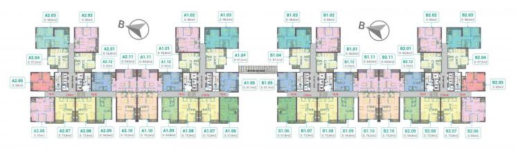 Cần tiền bán CHCC Phương Đông Green Park tầng 1001A2, DT 56.8m2 giá bán 1,58 tỷ/ căn: 0981129026 ảnh 0