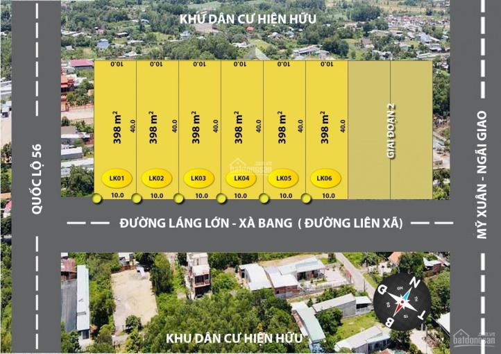 Cơ hội đầu tư đất mặt tiền đường Láng Lớn - Xà Bang, Châu Đức chỉ 4,9tr/m2 ảnh 0