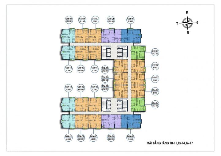 Bán cắt lỗ căn góc 2PN ban công Đông Nam giá 1 tỷ 950 full thuế phí chung cư Geleximco Giải Phóng ảnh 0