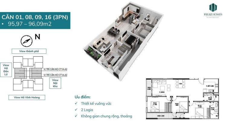 Bán căn 96m2 dự án Feliz Homes giá chỉ từ 26tr/m2 vay 75% miễn lãi 18 tháng - vào tên trực tiếp CĐT ảnh 0