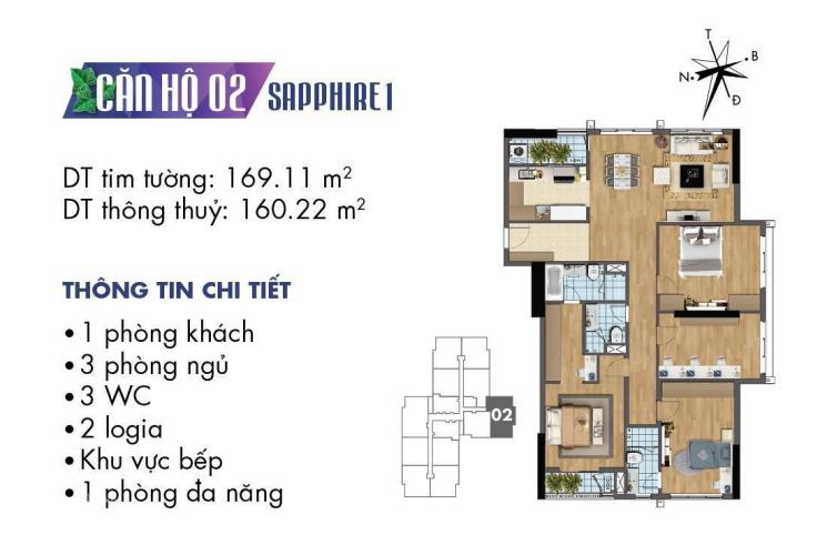 Cần bán căn hộ trung tâm DT 160m2 4PN, 3VS full nội thất ban công Đông Nam LH 0967593883 ảnh 0