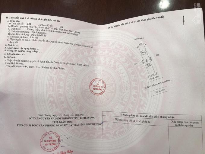 Đất phường Phú Tân, Thủ Dầu Một, Bình Dương, 10x30=300m2, TC 100%, SHR, LH: 0978 447 808 ảnh 0