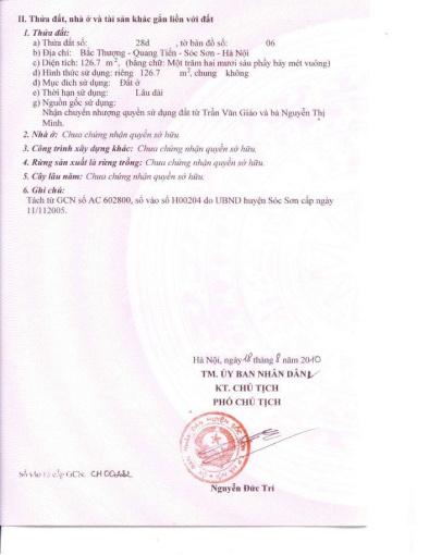 Cần bán 2 lô đất tại Bắc Thượng, Quang Tiến, Sóc Sơn 0963645593 ảnh 0