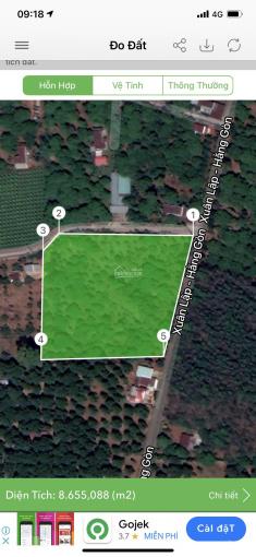 Bán lô đất 8372m2, 2 mặt tiền đường nhựa, đất ở đô thị đẹp nhất phường Xuân Lập, Long Khánh
