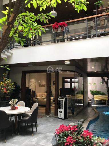 Cần cho thuê gấp biệt thự vip giáp Phan Đăng Lưu, DT 8x27, 4 tầng sân vườn rộng, hồ bơi, để 3 ô tô ảnh 0
