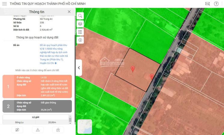 CC, 0466 bán đất 50x58 giá 9.5 tr/m2 thổ cư. Mặt tiền Sông Lu ảnh 0