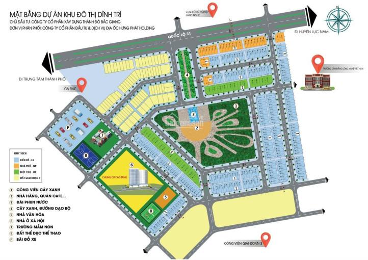 Đất nền khu đô thị mới Dĩnh Trì giá trực tiếp từ chủ đầu tư chỉ từ 19 triệu/m2 ảnh 0