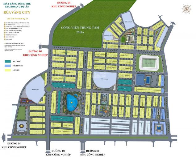 Bán suất ngoại giao đường 37m mặt phố đi bộ dự án Rùa Vàng City ảnh 0