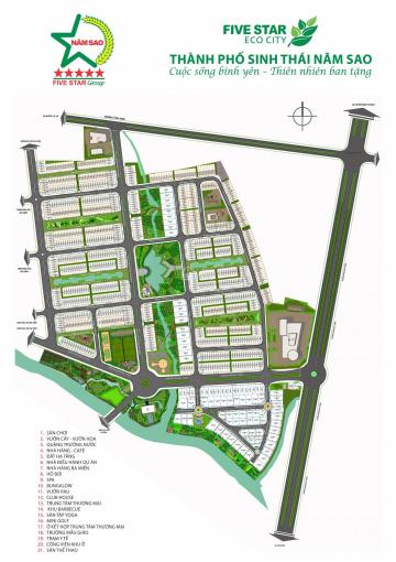 Chính chủ cần bán 01 nền DA Five Star Eco City 2 lô LK15 - diện tích 4,5*22 đối diện trường học ảnh 0