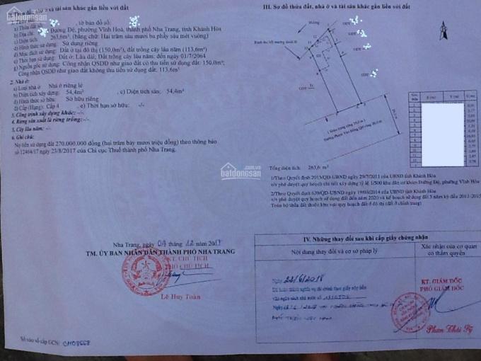Bán đất xây khách sạn đường Phạm Văn Đồng Phường Vĩnh Hoà tại Nha Trang, 263,6m2 (ngang 9,5m) ảnh 0