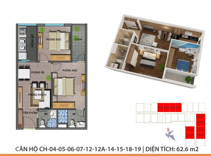 Cần nhượng lại căn hộ 2PN Ecohome 3 có gói vay ngân hàng chính sách, Bắc Từ Liêm. LH: 0978249289 ảnh 0