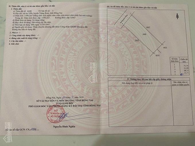 Bán 1,6 sào đất ấp 6, An Viễn, cạnh KCN Giang Điền, giá 3.7 tỷ ảnh 0