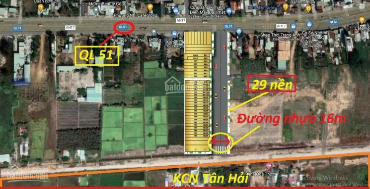 Đất nền - shophouse giá chỉ từ 8tr/m2 - mặt tiền QL51 trung tâm TP cảng Phú Mỹ - SHR 100% thổ cư ảnh 0