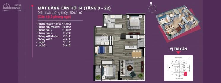 Chỉ từ 2,5 tỷ, sở hữu ngay căn hộ 3 PN hoa hậu tại dự án The Nine Tower Phạm Văn Đồng ảnh 0