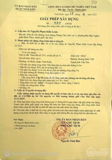 Bán nền đẹp tặng GPXD hẻm 6 Trần Vĩnh Kiết, P. An Bình, Ninh Kiều, Cần Thơ ảnh 0