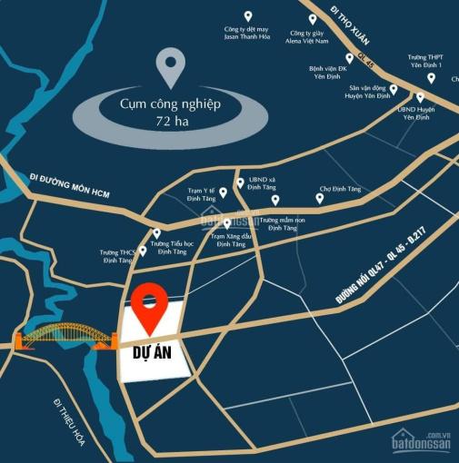 Bán lô đất nền đầu ve khu dân cư Phú Thọ Định Tăng, Yên Định, DT 120,5m2, MT 6,2m, giá 7,7tr ảnh 0