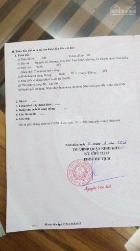 Bán nền mặt tiền đường Nguyễn Tri Phương, An Khánh, Cần Thơ. Diện tích 90m2, vị trí rất đẹp sổ hồng ảnh 0
