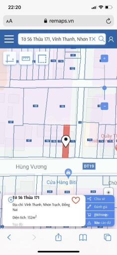 Cần bán mặt tiền Hùng Vương, xã Vĩnh Thanh, Nhơn Trạch, Đồng Nai. ảnh 0