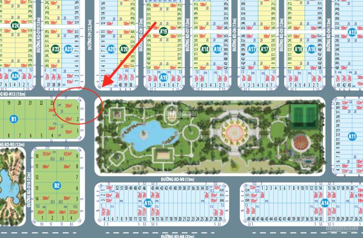 Lô góc biệt thự duy nhất, đẹp nhất dự án Century City đối diện công viên trung tâm 2ha 093.3871.093 ảnh 0