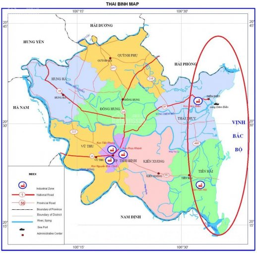 Đất nền Tiền Hải, Thái Bình - sổ đỏ - gần khu công nghiệp Tiền Hải 0946737687 ảnh 0