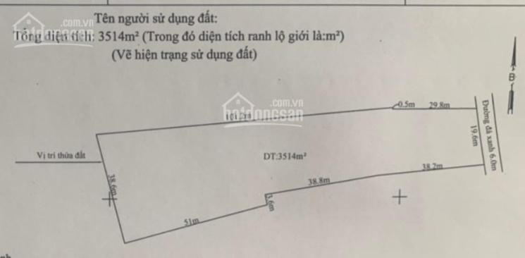 Chính chủ bán đất 3300m2, đường 6m, sổ hồng riêng, xã Đức Hòa Đông ảnh 0