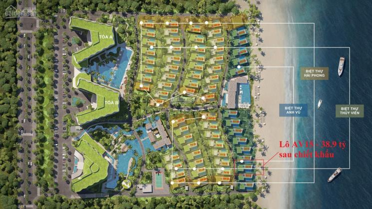 Bán biệt thự mặt biển Hội An, trước mặt căn hộ là bãi biển An Bàng 1,5ha giá 90 tr/m2 full nội thất ảnh 0