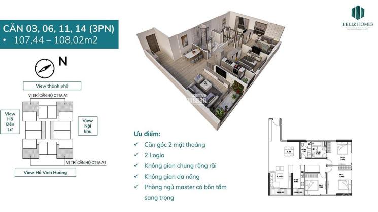 Bán căn 3-4PN view hồ dự án Feliz Homes giá ngoại giao, miễn phí bảo trì, vay lãi suất 0% 18 tháng ảnh 0