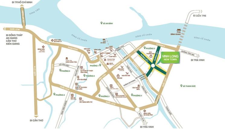 Chính chủ kẹt tiền bán gấp nền nhà phố 90m2 dự án Vĩnh Long New Town giá cực tốt sổ đỏ trao tay ảnh 0