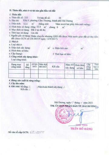 Chính chủ cần bán 1 lô đất đường gom An Định, TP Hải Dương ảnh 0