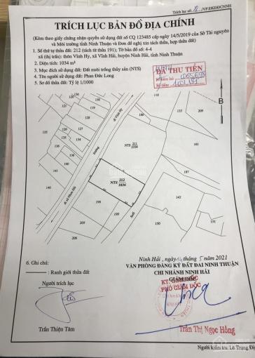 Chính chủ cần bán lô đất thuộc thôn Vĩnh Hy, xã Vĩnh Hải, huyện Ninh Hải, Tỉnh Ninh Thuận ảnh 0