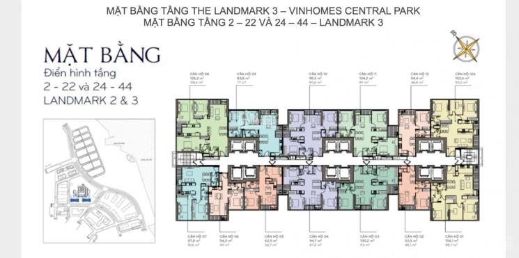 Bán căn hộ 3PN toà Land Mark 3 full nội thất giá 7.3 tỷ ảnh 0