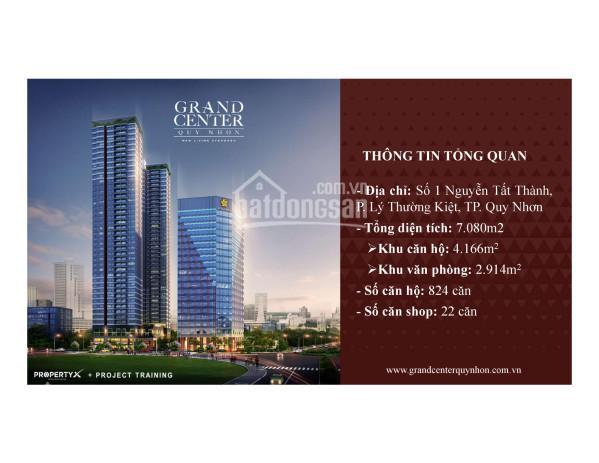 Bán lại các căn 12, 12A, 15 tầng đẹp view biển giá rẻ. Dự án Grand Center Quy Nhơn ảnh 0