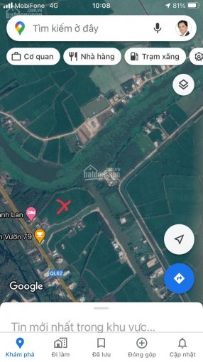 Bán đất 1.875ha (18.742m2) 3 mặt tiền Quốc Lộ 62 + Sông Vàm Cỏ Tây, Tân Lập, huyện Mộc Hóa, Long An ảnh 0
