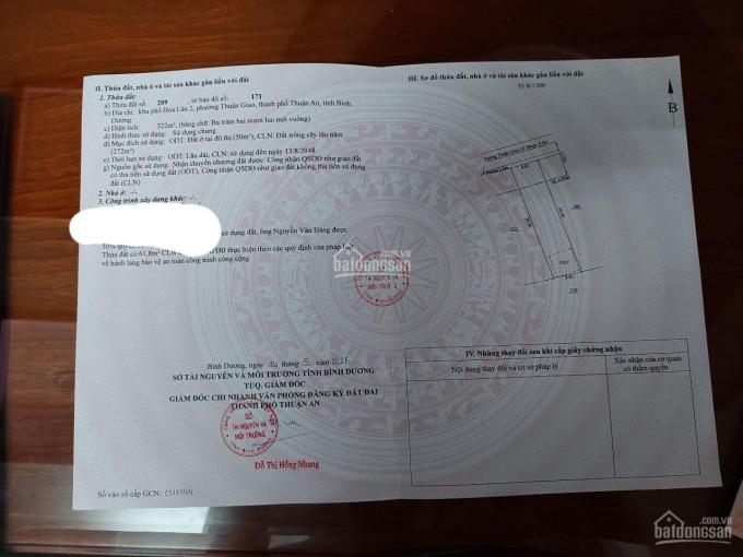 Bán lô đất đường Thuận Giao 16 diện tích 320m2 giá 8 tỷ LH: 0982228502 ảnh 0