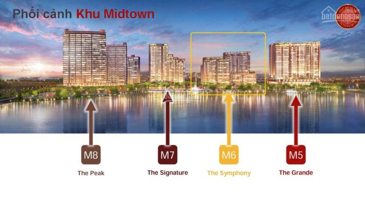 Kẹt tiền cần bán gấp căn hộ 02PN hoàn thiện cơ bản Midtown Phú Mỹ Hưng diện tích 90m2 giá 4.2 tỷ ảnh 0
