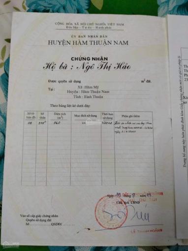 Cần ra nhanh lô đất nền Hàm Mỹ, huyện Hàm Thuận Nam, Phan Thiết, Bình Thuận ảnh 0