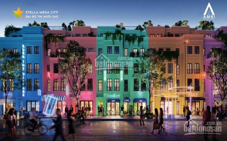 Shophouse 5x22m, 1T + 3L phố đi bộ Stella Mega City, cạnh sân golf giá 6,5 tỷ (SH)luôn nhà và VAT ảnh 0